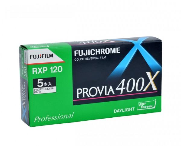 Fujichrome Provia 400X RXP Rollfilm 120 5er Pack