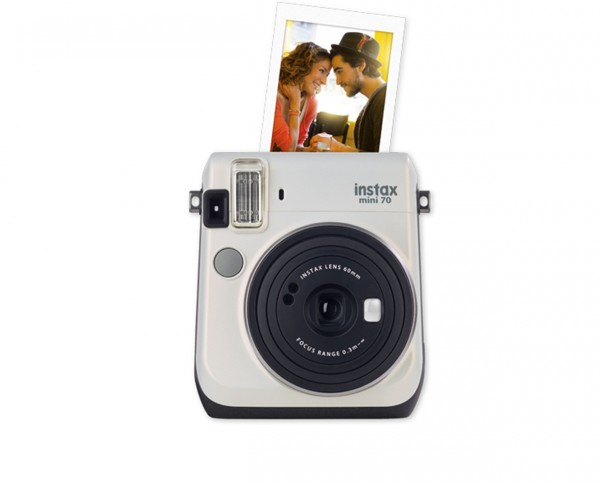 Fuji instax mini 70 instant camera moon white