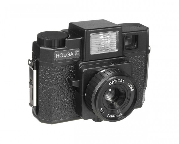 Holga 120FN medium format camera with flash light