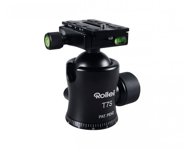 Rollei T7S Ball Head | max. 35kg incl. ArcaSwiss compatible QAL-70 + bag