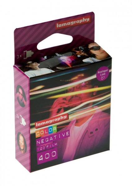 Lomography Color Negativ 400 Rollfilm 120 3er-Pack