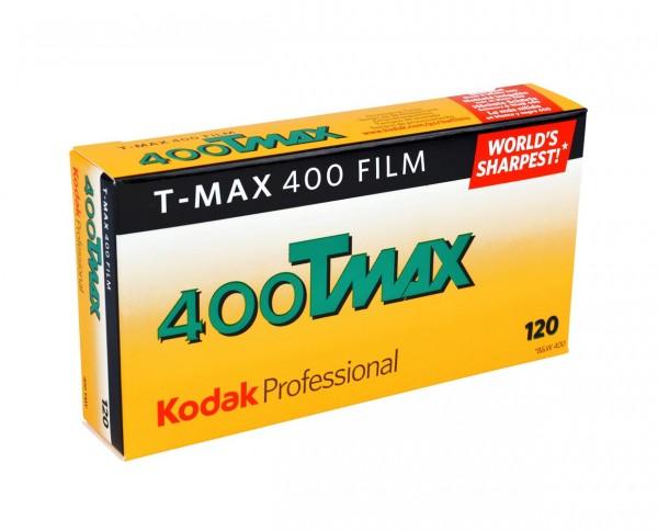 Kodak T-MAX 400 roll film 120 pack of five