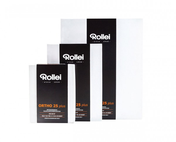Rollei Ortho 25 plus | sheet film 8x10' (20,3x25,4cm) 25 sheets