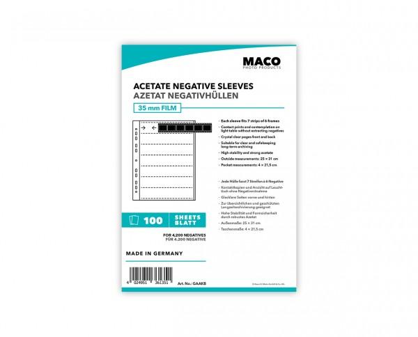 MACO Acetat Negativhüllen für Kleinbildfilm (35MM) | 100 Blatt