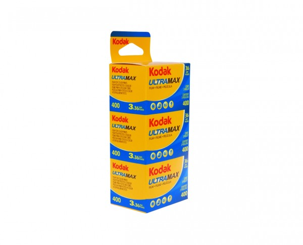 Kodak Ultra Max 400 35mm 36 exposures pack of three