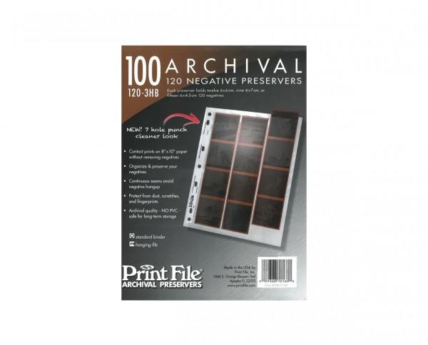 Print File negative sleeves medium format 100 sheets