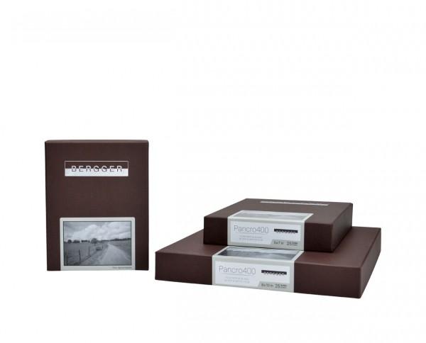 "Bergger Pancro 400 sheet film 4x5"" (10,2x12,7cm) 50 sheets"