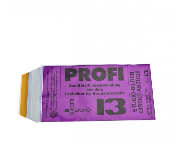 Studio 13 E-6 developing voucher for one roll film with framing