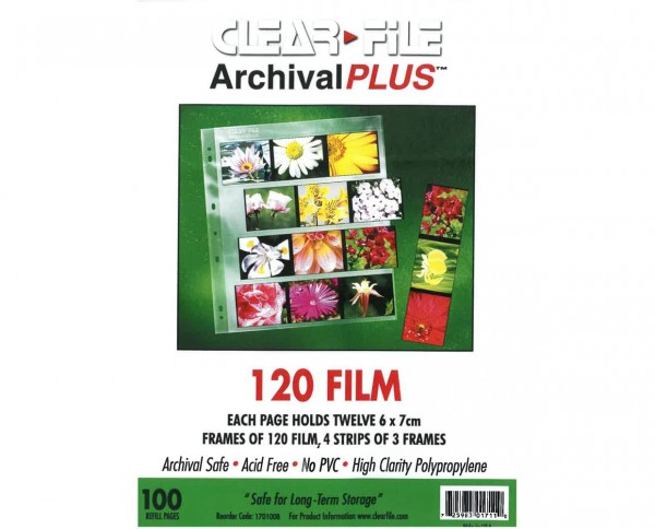 Clearfile PP negative sleeves medium format 6x7cm 100 sheets