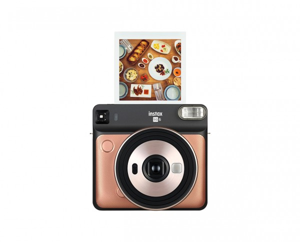 Fuji Instax SQUARE SQ6 Blush Gold instant camera