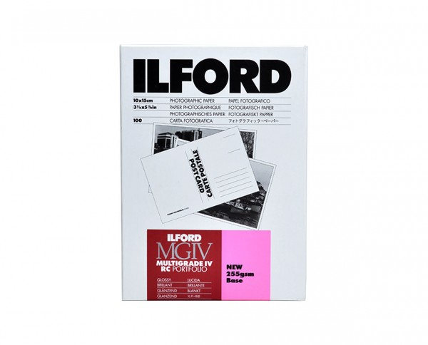 "Ilford MG IV RC Portfolio glossy 3.9x5.9"" (10x15cm) 100 sheets"