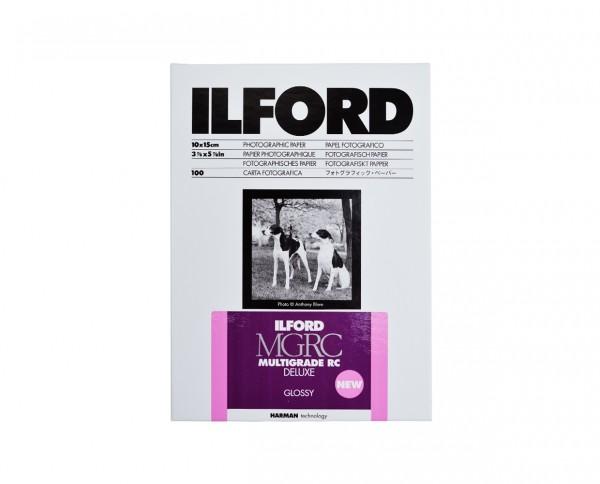 """Ilford Multigrade V RC De Luxe glossy (1M) 4.1x5.9"""" (10.5x14.8cm) 100 sheets"""