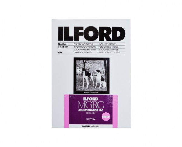 "Ilford Multigrade V RC De Luxe glänzend (1M) 10,5x14,8cm (4,1x5,9"") 100 Blatt"