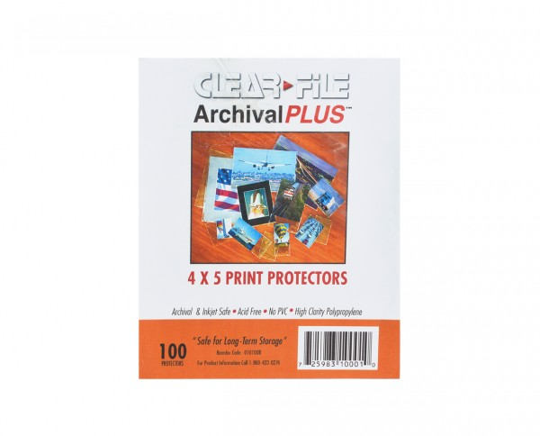 "Clearfile PP negative sleeves sheet film 4x5"" (10.2x12.7cm) 100 sheets"