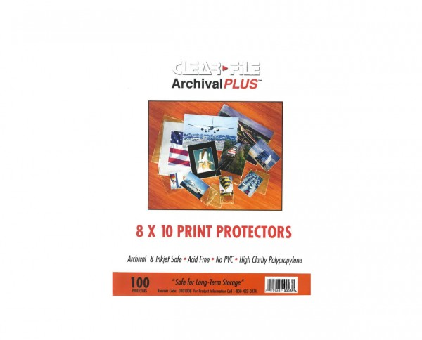 "Clearfile PP negative sleeves (unpunched) sheet film 8x10"" (20.3x25.4cm) 100 sheets"
