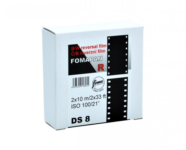 Fomapan R 100 double super 8mm 2x 10m on spool