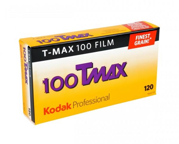 Kodak T-MAX 100 roll film 120 pack of five