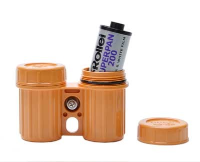 SALE | 100% wasserdichtes doppel Film Case 35mm gelb