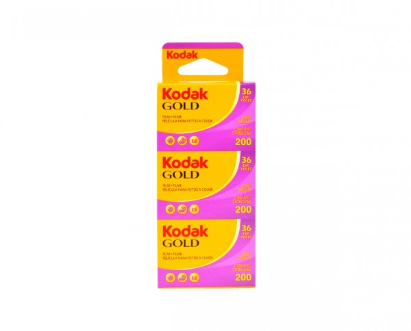 Kodak Gold 200 35mm 36 exposures | pack of three