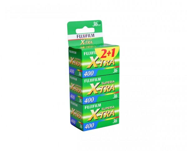 Fuji Superia X-TRA 400 35mm 36 exposures pack of three