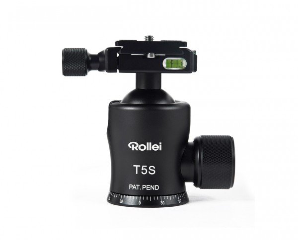 Rollei T5S Ball Head | max. 25kg incl. ArcaSwiss compatible QAL-60 + bag