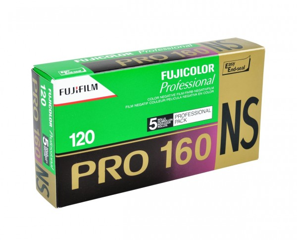Fuji PRO 160 NS roll film 120 pack of five