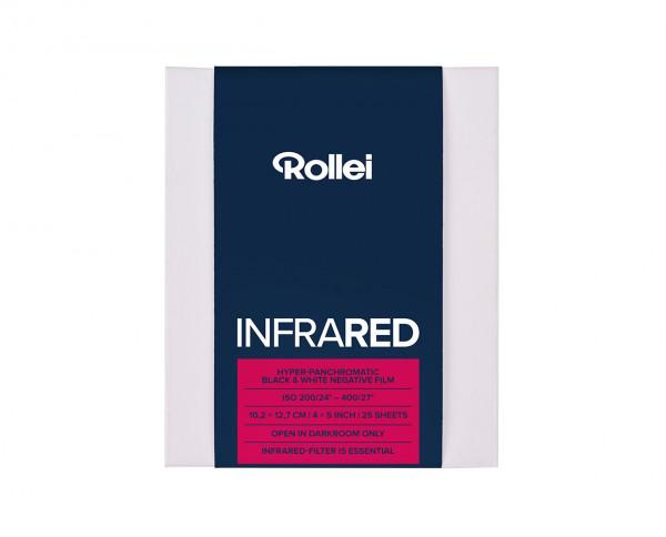 """Rollei Infrared Planfilm 10,2x12,7cm (4x5"""") 25 Blatt"""